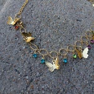 Gold ankle bracelet $30